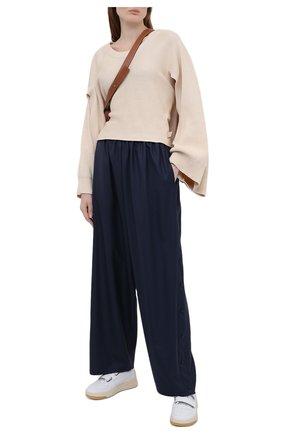 Женский хлопковый пуловер LOEWE бежевого цвета, арт. S540Y14K31 | Фото 2
