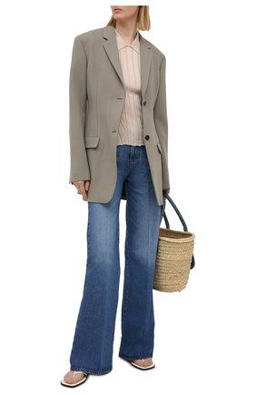Женское поло из шелка и хлопка EMPORIO ARMANI бежевого цвета, арт. 8N2MW9/2MA5Z | Фото 2