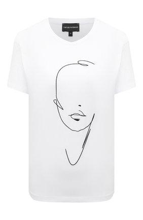 Женская хлопковая футболка EMPORIO ARMANI белого цвета, арт. 3K2T7L/2JSYZ | Фото 1