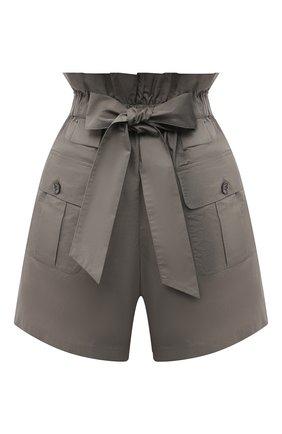 Женские хлопковые шорты EMPORIO ARMANI хаки цвета, арт. 3K2P91/2N7VZ | Фото 1