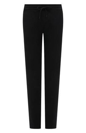 Женские хлопковые брюки EMPORIO ARMANI черного цвета, арт. 3K2P8T/2JRCZ   Фото 1