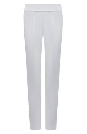 Женские брюки из вискозы EMPORIO ARMANI голубого цвета, арт. 3K2P7A/2JQIZ   Фото 1