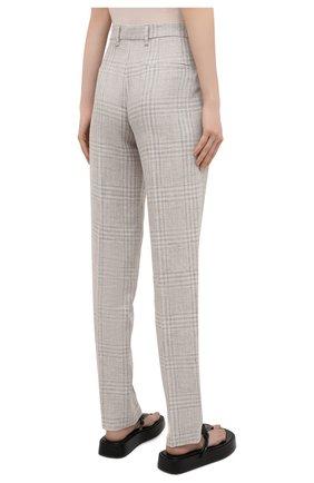 Женские брюки из льна и шерсти EMPORIO ARMANI бежевого цвета, арт. 0NP4CT/02167 | Фото 4
