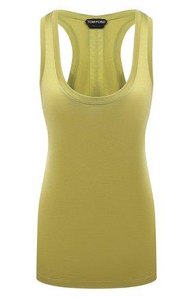 Женская шелковая майка TOM FORD зеленого цвета, арт. TSJ260-FAX835 | Фото 1