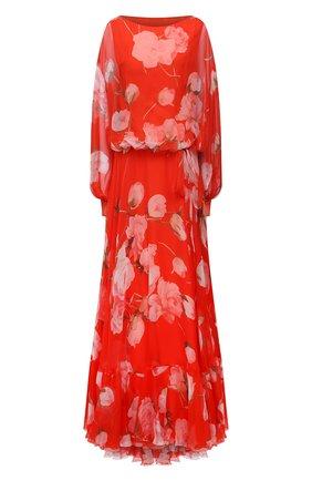 Женское шелковое платье VALENTINO красного цвета, арт. VB0VDBZ56DN | Фото 1