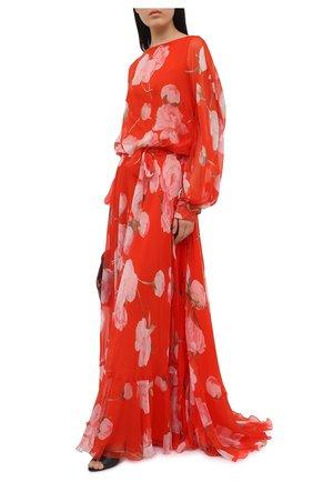 Женское шелковое платье VALENTINO красного цвета, арт. VB0VDBZ56DN | Фото 2