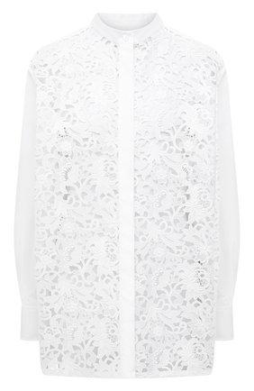 Женская хлопковая рубашка VALENTINO белого цвета, арт. VB0AB2414HP | Фото 1