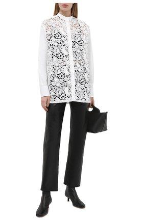 Женская хлопковая рубашка VALENTINO белого цвета, арт. VB0AB2414HP | Фото 2