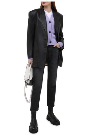 Женские джинсы AMI серого цвета, арт. E21FD010.611 | Фото 2
