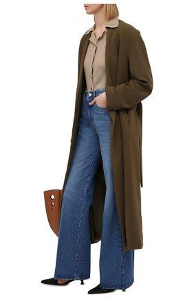 Женские джинсы AMI синего цвета, арт. E21FD302.601 | Фото 2
