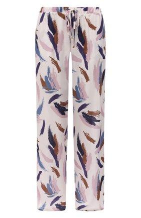 Женские брюки из вискозы HANRO розового цвета, арт. 077617 | Фото 1