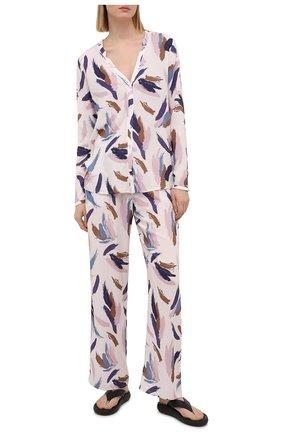 Женские брюки из вискозы HANRO розового цвета, арт. 077617 | Фото 2