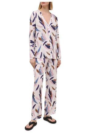 Женская блузка из вискозы HANRO разноцветного цвета, арт. 077611 | Фото 2