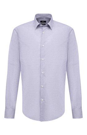 Мужская хлопковая сорочка BOSS синего цвета, арт. 50450799   Фото 1