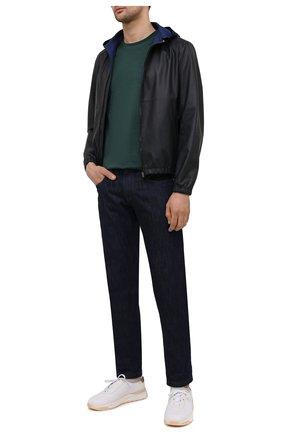 Мужская хлопковая футболка PAUL&SHARK зеленого цвета, арт. C0P1011/C00   Фото 2