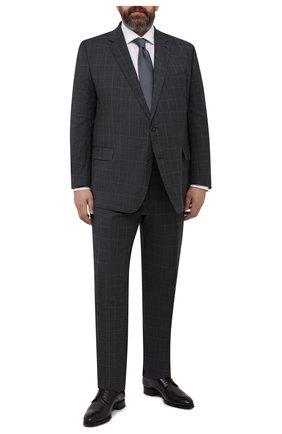 Мужской шерстяной костюм WINDSOR серого цвета, арт. 13 R0MA-RAN0-U 10006002/60-66 | Фото 1 (Материал внешний: Шерсть; Материал подклада: Вискоза; Рукава: Длинные; Стили: Классический; Костюмы М: Однобортный; Big sizes: Big Sizes)