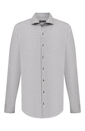 Мужская хлопковая рубашка VAN LAACK серого цвета, арт. M-PER-LSF/180031/3XL | Фото 1