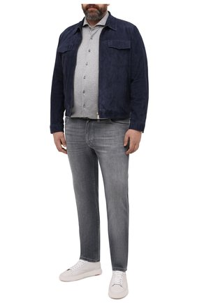 Мужская хлопковая рубашка VAN LAACK серого цвета, арт. M-PER-LSF/180031/3XL | Фото 2