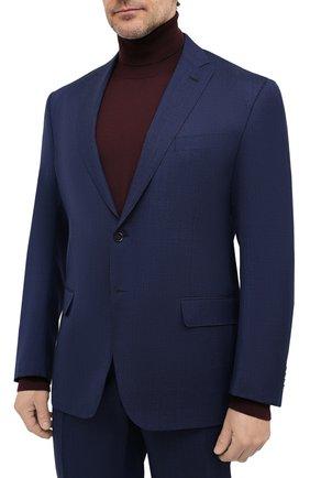 Мужской шерстяной костюм LUCIANO BARBERA темно-синего цвета, арт. 5M2014/25030/58-62 | Фото 2