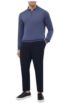 Мужское шерстяное поло LUCIANO BARBERA синего цвета, арт. 109877/53214/58-62 | Фото 2
