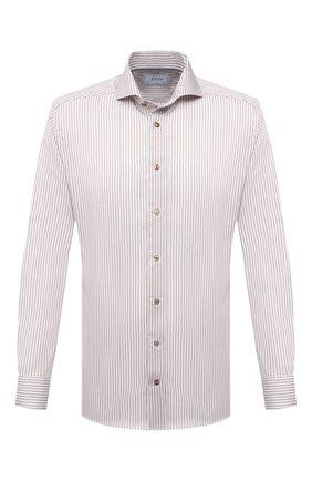 Мужская хлопковая сорочка ETON бежевого цвета, арт. 1000 02058 | Фото 1