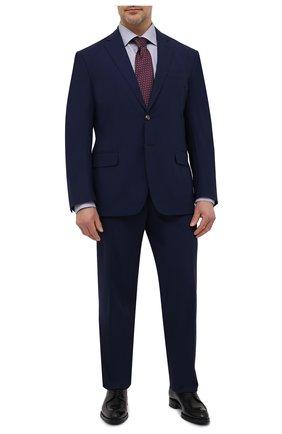 Мужская хлопковая сорочка ETON синего цвета, арт. 1000 03036 | Фото 2 (Материал внешний: Хлопок; Рукава: Длинные; Случай: Формальный; Стили: Классический; Рубашки М: Regular Fit; Манжеты: На пуговицах; Принт: С принтом; Воротник: Акула; Длина (для топов): Удлиненные)