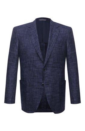 Мужской пиджак из шерсти и шелка CANALI синего цвета, арт. E21288/CX03172/116 | Фото 1
