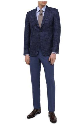 Мужской пиджак из шерсти и шелка CANALI синего цвета, арт. E21288/CX03172/116 | Фото 2