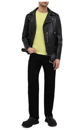 Мужские джинсы KENZO черного цвета, арт. FB55DP3002ED   Фото 2