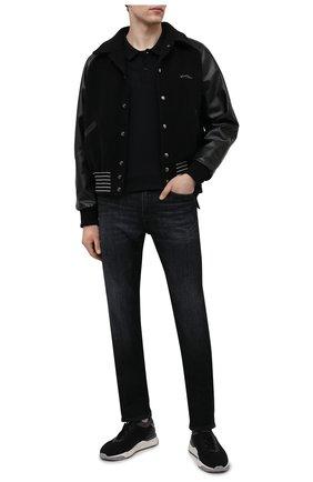 Мужское хлопковое поло kenzo sport KENZO черного цвета, арт. FA65P00504SK | Фото 2