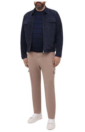 Мужской хлопковое джемпер CORTIGIANI темно-синего цвета, арт. 119113/0500/60-70 | Фото 2