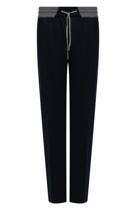 Мужские брюки изо льна и хлопка CORTIGIANI темно-синего цвета, арт. 114616/0000/60-70 | Фото 1
