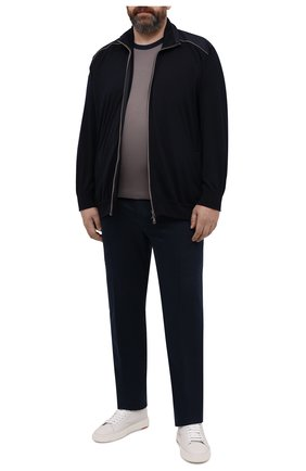 Мужские брюки изо льна и хлопка CORTIGIANI темно-синего цвета, арт. 114616/0000/60-70 | Фото 2