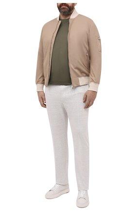 Мужские брюки изо льна и хлопка CORTIGIANI светло-серого цвета, арт. 114616/0000/60-70 | Фото 2