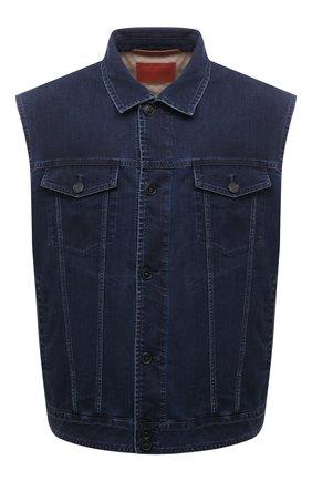 Мужской джинсовый жилет CORTIGIANI синего цвета, арт. 118504/0000/60-70 | Фото 1