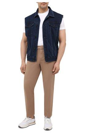 Мужской джинсовый жилет CORTIGIANI синего цвета, арт. 118504/0000/60-70 | Фото 2