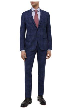 Мужской костюм из шерсти и шелка CANALI темно-синего цвета, арт. 25270/53/BF03199 | Фото 1