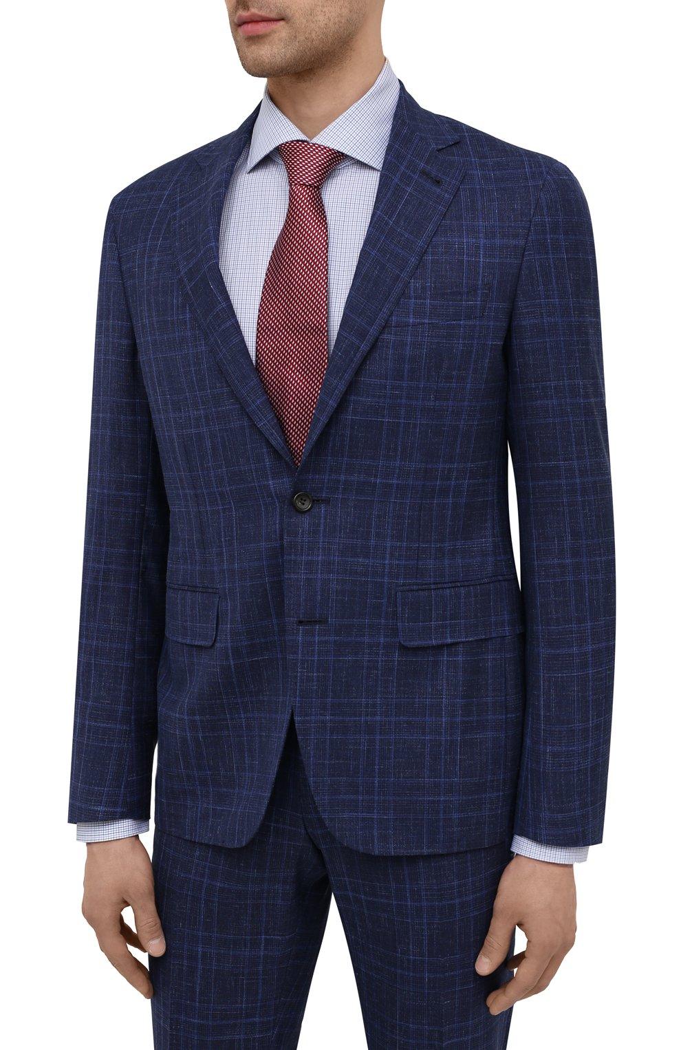 Мужской костюм из шерсти и шелка CANALI темно-синего цвета, арт. 25270/53/BF03199 | Фото 2