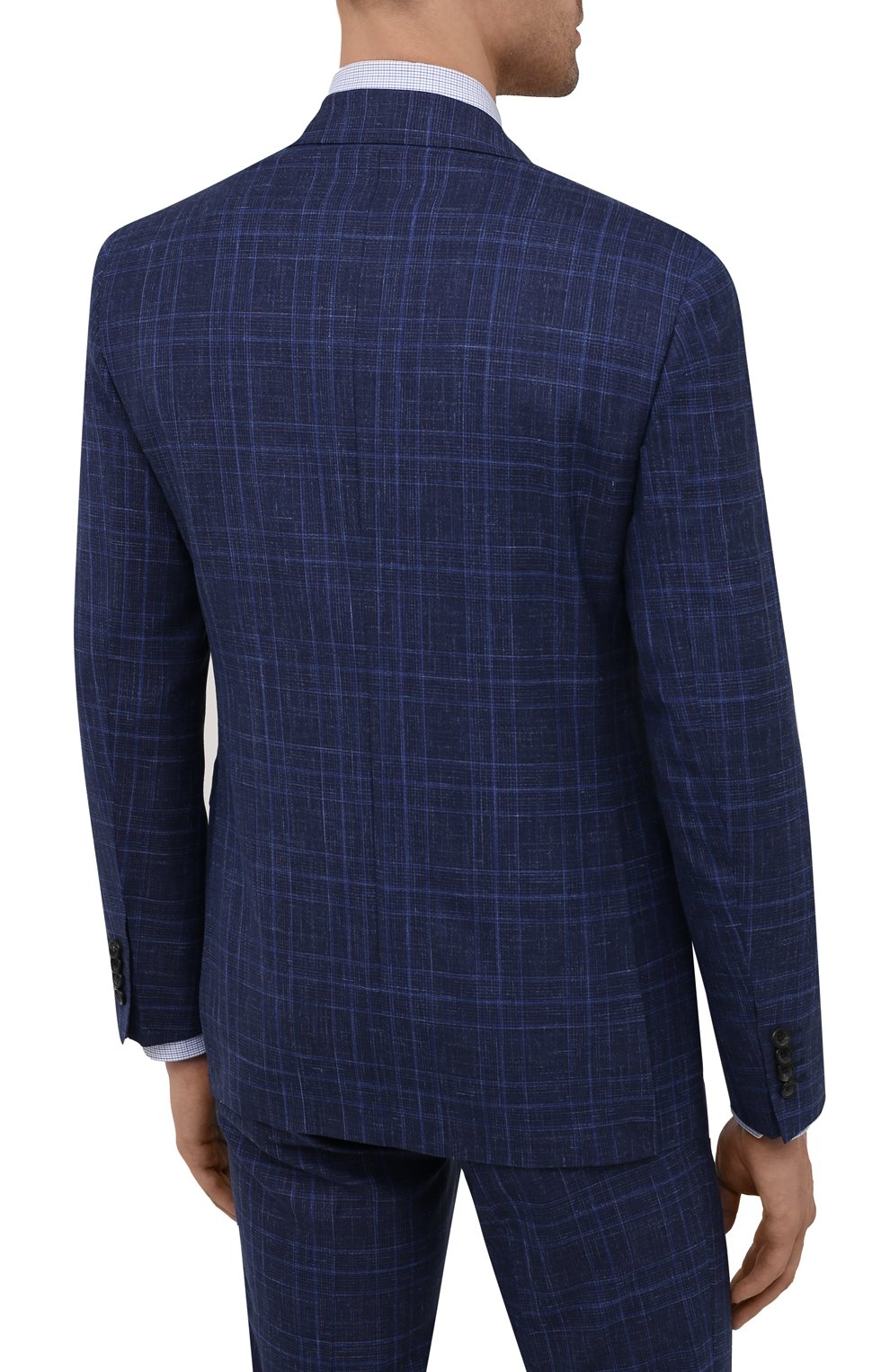 Мужской костюм из шерсти и шелка CANALI темно-синего цвета, арт. 25270/53/BF03199 | Фото 3