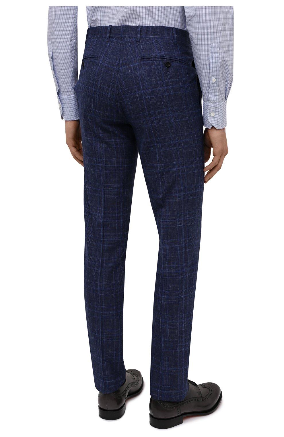 Мужской костюм из шерсти и шелка CANALI темно-синего цвета, арт. 25270/53/BF03199 | Фото 5