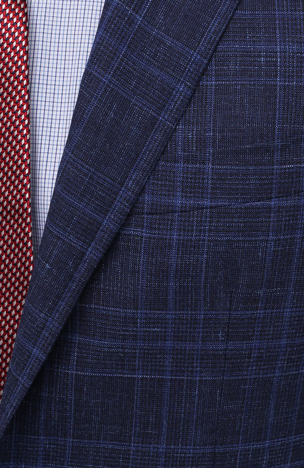Мужской костюм из шерсти и шелка CANALI темно-синего цвета, арт. 25270/53/BF03199 | Фото 6