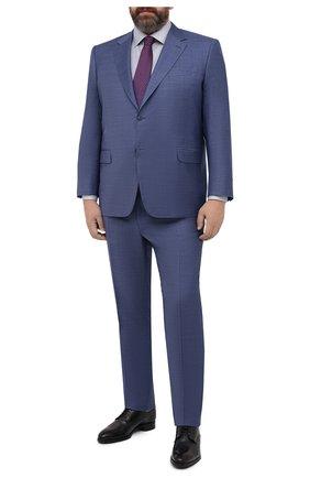Мужской шерстяной костюм CANALI синего цвета, арт. 21280/10/AA02524/60-64 | Фото 1 (Материал внешний: Шерсть; Материал подклада: Купро; Рукава: Длинные; Стили: Классический; Костюмы М: Однобортный; Big sizes: Big Sizes)