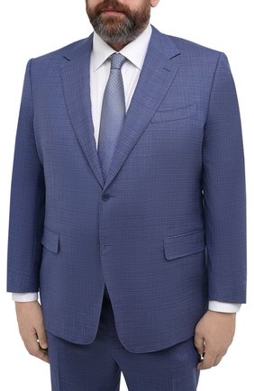 Мужской шерстяной костюм CANALI синего цвета, арт. 11280/10/AA02526/60-64   Фото 2