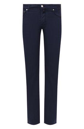 Мужские джинсы JACOB COHEN темно-синего цвета, арт. J620 C0MF 06510-V/55 | Фото 1