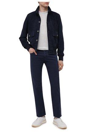 Мужские джинсы JACOB COHEN темно-синего цвета, арт. J620 C0MF 06510-V/55 | Фото 2