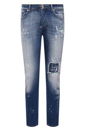 Мужские джинсы PREMIUM MOOD DENIM SUPERIOR синего цвета, арт. S21 03527/BARRET | Фото 1