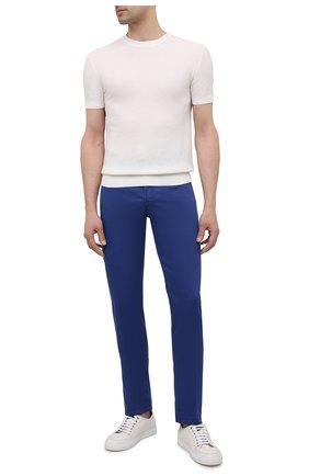 Мужские брюки из хлопка и шелка MARCO PESCAROLO темно-синего цвета, арт. NERAN0M18/4300 | Фото 2