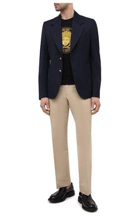 Мужской шерстяной пиджак VERSACE темно-синего цвета, арт. A88820/1F00737   Фото 2