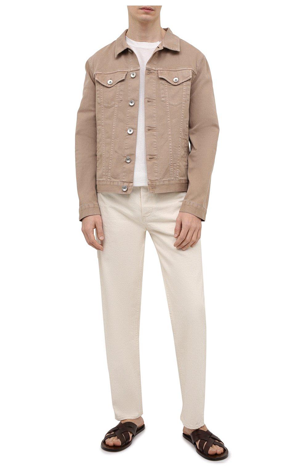 Мужские кожаные шлепанцы OFFICINE CREATIVE темно-коричневого цвета, арт. K0NTRAIRE/003/SPALLA PIUMA | Фото 2 (Материал внутренний: Натуральная кожа)