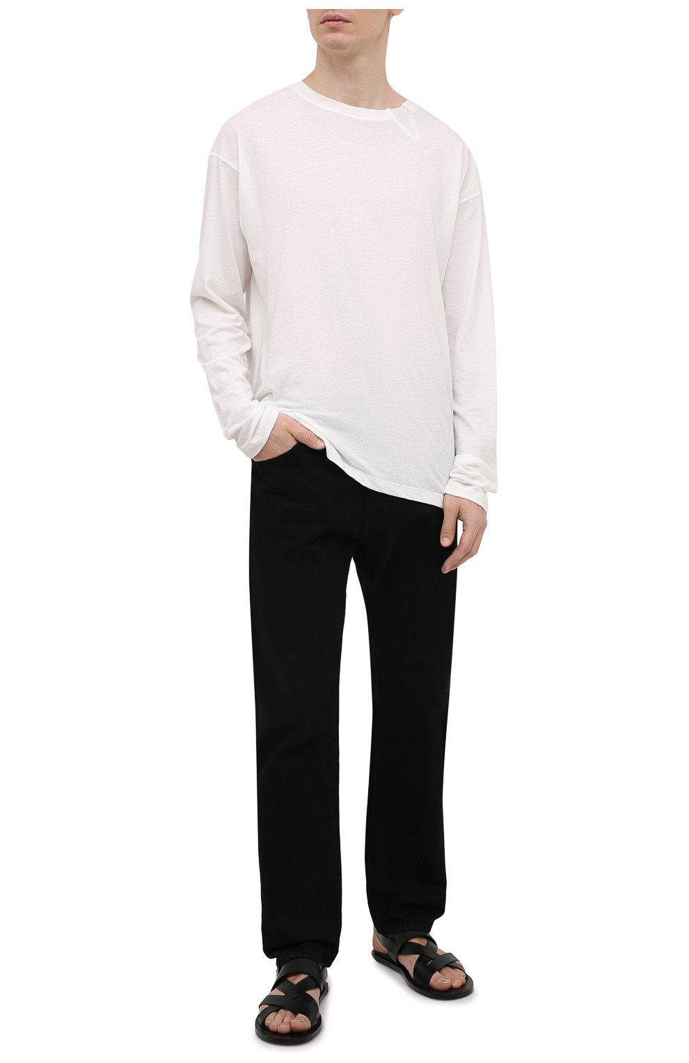Мужские кожаные сандалии OFFICINE CREATIVE черного цвета, арт. K0NTRAIRE/005/SPALLA PIUMA | Фото 2 (Материал внутренний: Натуральная кожа)